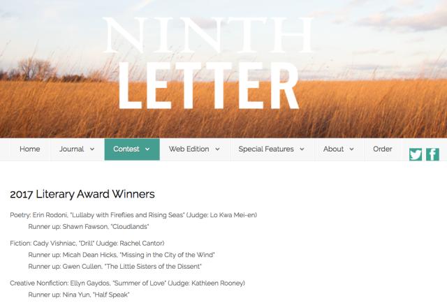 Ninth Letter